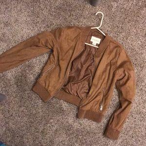 Women's Sky and Sparrow brown velvet jacket